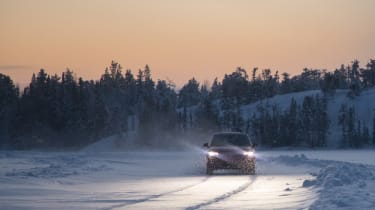 Volkswagen Tiguan wintery road