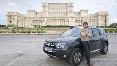 <strong>Chris Ebbs, Consumer editor</strong>  <b><em>Learning about Dacia's rebirth</em> &nbsp;</b>  <span>Dacia has taken the UK by storm since making a return at the end of 2012, so I couldn't wait to head to the company's birthp
