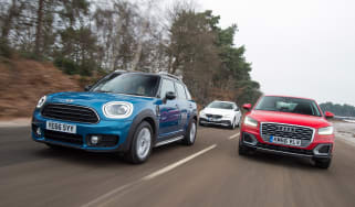 MINI Countryman vs Audi Q2 vs Volvo V40 Cross Country - header