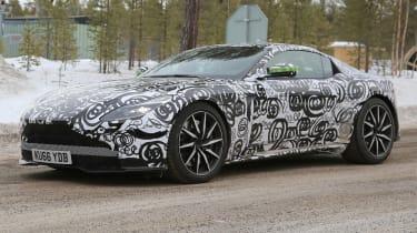 Aston Martin V8 Vantage mule front quarter