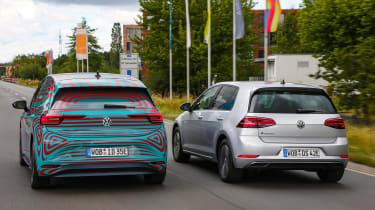 Volkswagen ID.3 vs Volkswagen e-Golf - rear