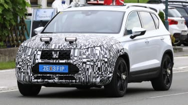 SEAT Ateca spied - front tracking