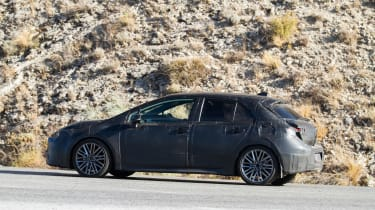 New Toyota Auris spied side rear
