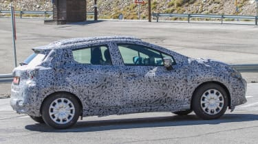 Nissan Micra 2017 spies sided rear