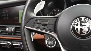 Alfa Romeo Giulia long term test - first report steering wheel