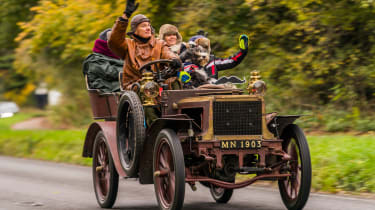 London to Brighton Veteran Car Run  -  halfway
