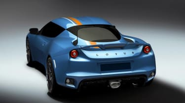 Lotus Evora 400 Blue Orange Edition - rear