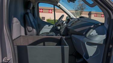 Becker Ford Transit Jet Van front seat interior