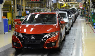 Honda's Swindon factory - production line