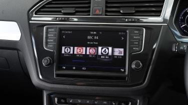 Mazda CX-5 vs Skoda Kodiaq vs VW Tiguan - Volkswagen Tiguan infotainment