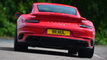 Porsche 911 Turbo S - rear action