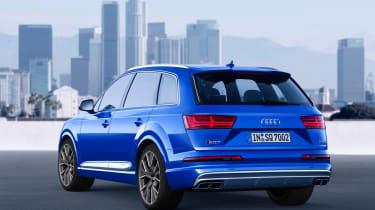 Audi SQ7 blue - rear quarter 4