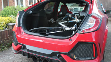 Honda Civic Type R GT - bike in boot