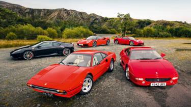 Top 5 greatest ever V8 Ferraris - header
