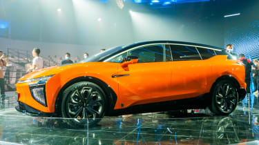 The HiPhi X is a futuristic looking EV that brings premium style to the sector.