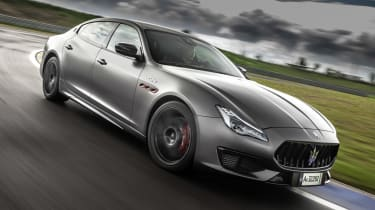Maserati Quattroporte Trofeo - front action