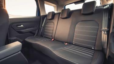 Dacia Duster 2021 facelift - rear seats