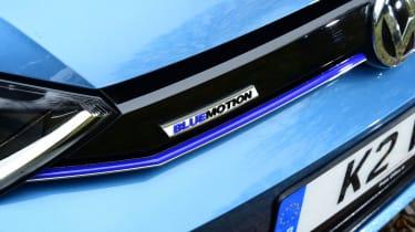 VW Golf SV BlueMotion badge