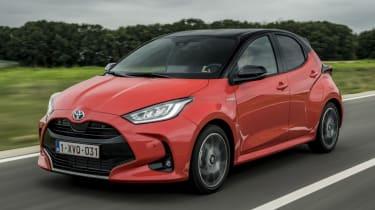 Toyota Yaris driving