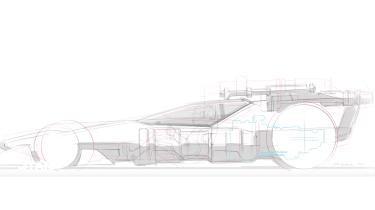 Hot Wheels X-Wing Carship - sketch
