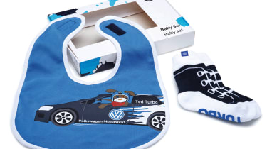 Volkswagen socks and bib baby gift set