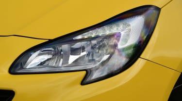 Vauxhall Corsa - front light detail