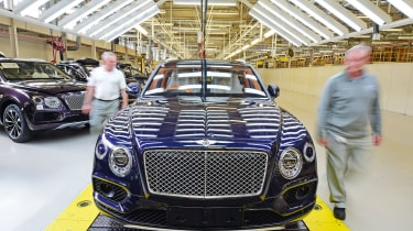 """Bentley's British workforce has grown from 1,000 in 1998 to nearly 4,000, including a further 500 jobs for apprentices and engineers this year."" This will be thanks in no small part to Bentley venturing into the SUV market with the ne"