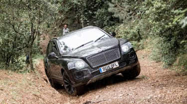 Bentley Bentayga prototype first drive - hill