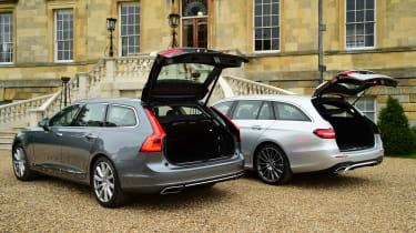 Mercedes E-Class Estate vs Volvo V90 - boots open
