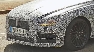 Jaguar XF spy - front