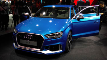 Audi RS3 Saloon - Paris front three quarter