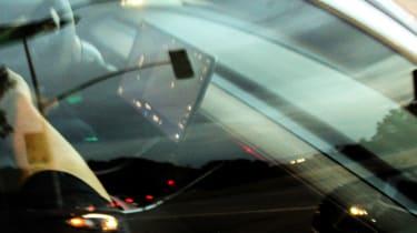 Tesla Model 3 spy shots screen
