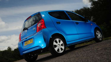 The Suzuki Alto isn't as neatly styled as its rivals - if anything it looks a bit fussy.