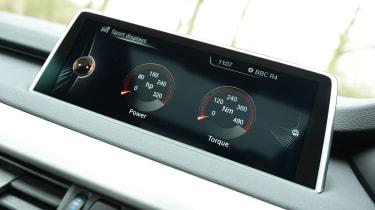 BMW X5 xDrive40e hybrid - screen