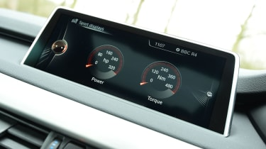 BMW X5 xDrive40e hybrid - screen