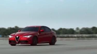 Alfa Romeo Giulia screen grab