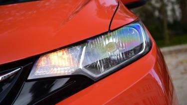 Honda Jazz long-term first report - front light detail