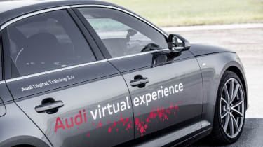 Audi Virtual Training Car side view