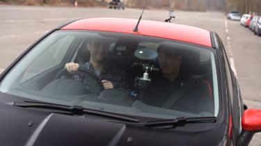 Nigel Mansell driving tips - interior teaching 2