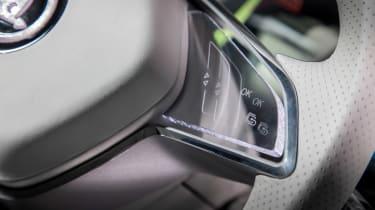 Skoda VisionS concept - steering wheel detail