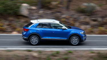 Volkswagen T-Roc - side action