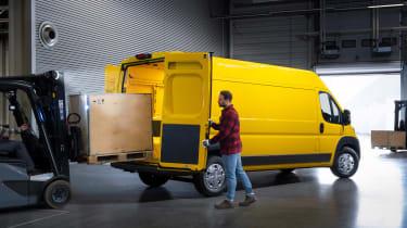 Vauxhall Movano-e - rear yellow