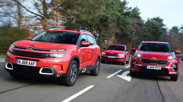 citroen c5 aircross vs kia sportage vs skoda karoq group test - header