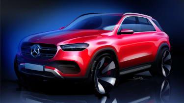 Mercedes GLE - teaser sketch
