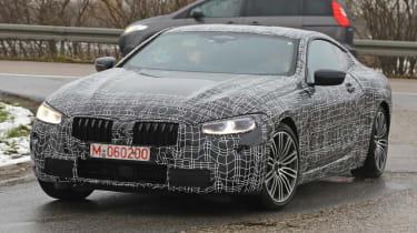 BMW 8 Series - spy shot front quarter