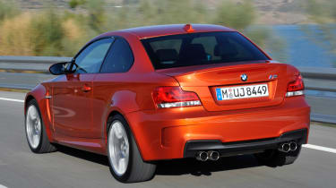 BMW 1 Series M Coupe rear tracking