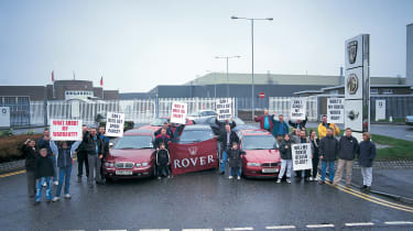 Protests outside factory gates immediately after closure made headlines, but community still feels impact now