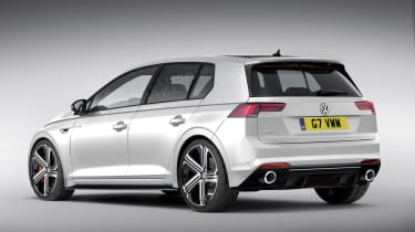 Mk8 VW Gold GTI rendering - rear