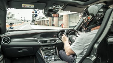Alfa Romeo Stelvio Quadrifoglio - interior brands hatch