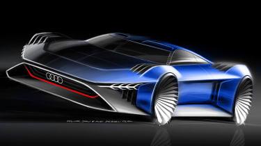 Audi RSQ e-tron Concept - front sketch